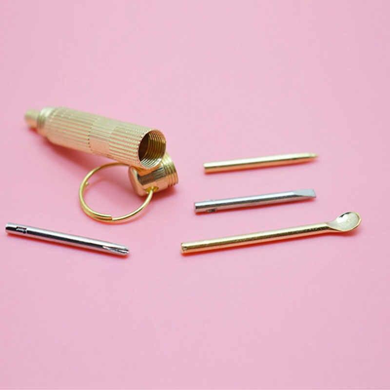 1 шт., мини-инструменты для ушей, EDC, легко переносить, походные, латунные зубочистки, многофункциональные, профессиональные инструменты для активного отдыха