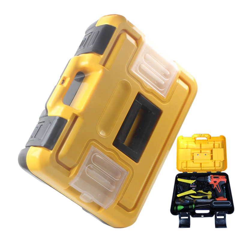 Portable Plastic Tool Box Household Hardware Toolbox Electric Drill Wrench Screwdriver Storage Box Car Repair Storage Case