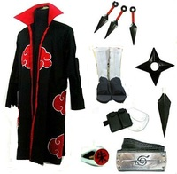 Naruto Itachi Uchiha cosplay costume White Shoes Whole set uniform