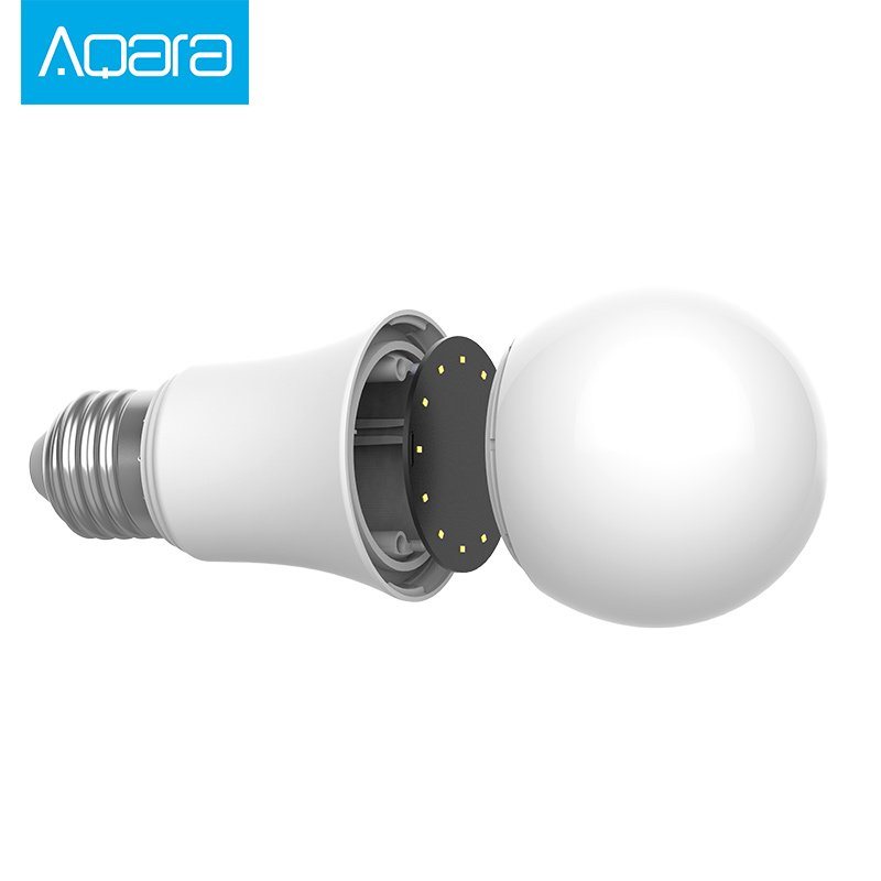 xiaomi mijia aqara bulb zigbee version work with mi home app ,and for apple  homekit smart LED bulb original