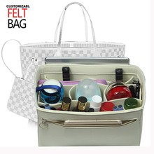 Fits Speedy 25 30 35 40 Neverfull Felt Insert Bag Organizer In Handbag Purse withDetachable Middle Compartment