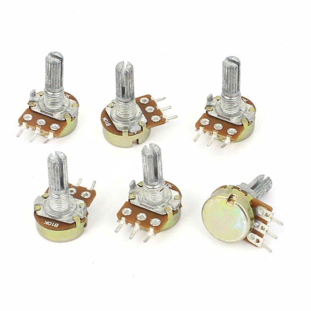 10 pçs/lote WH148 B10K 15 milímetros Linear Pot Potenciômetro Única Articulação 20 10 5 2 1K K K K K K 100K 250K 500K 1 50 M 500 Ohm para Kit Arduino