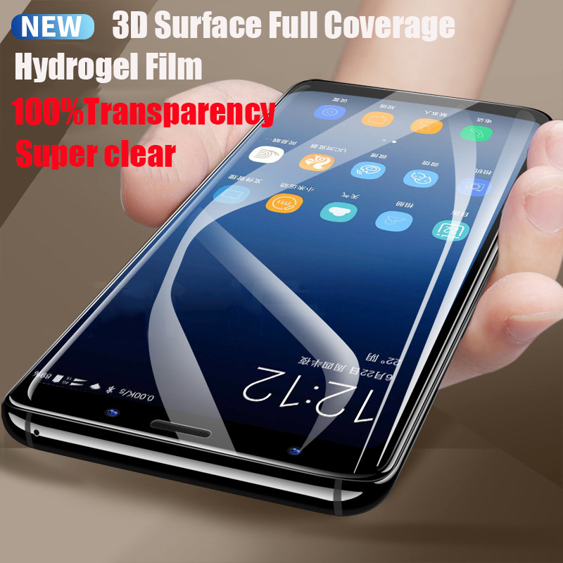 Image 4 - Full Soft Hydrogel Film For Samsung Galaxy S10 S9 S8 A8 Plus Note 10 9 8 Plus Screen Protector For Samsung S9 S10 Plus 5G S7Edge-in Phone Screen Protectors from Cellphones & Telecommunications
