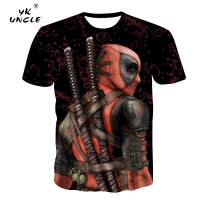 YK UNCLE Deadpool Comic 3D Printing T Shirt Cartoon Anime Super Hero T shirt Men Superhero Tees Dead Pool Cool Tshirt Tops