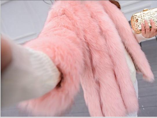 Vestes De Fausse Fourrure Taille V484 Casacos Manteau Feminino Renard Court Femmes Plus Furry 6xl 2018 D'hiver En Bureau La Cardigan A0axUpqA