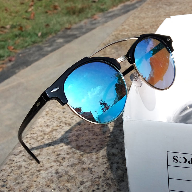 New Round sunglasses polarized men or Lady Ultra Light retro glasses women Metal Frame Shades gafas De Sol d uv400 Reduce rays