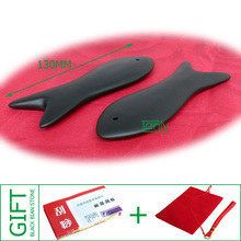 Good quality! Wholesale & Retail Traditional Acupuncture Massage Tool Fish Guasha Board Natural Black Bian-stone gift bag&chart  цена 2017
