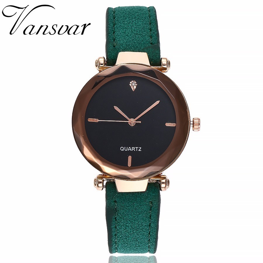 Vansvar Women Watch Top Brand Luxury Casual Fashion Quartz Clock For Women Leather Strap Wrist Watch Reloj Mujer Drop Shipping vansvar brand fashion casual relogio feminino vintage leather women quartz wrist watch gift clock drop shipping 1903