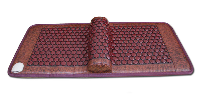 2016 New Arrival Tourmaline Mat with Ochre Infared Therapy, Electric Heated Jade Mattress with PU Leather Free Shipping new embroidered jade mesh therapy mat electric heated sleeping pad for sale 45cmx45cm