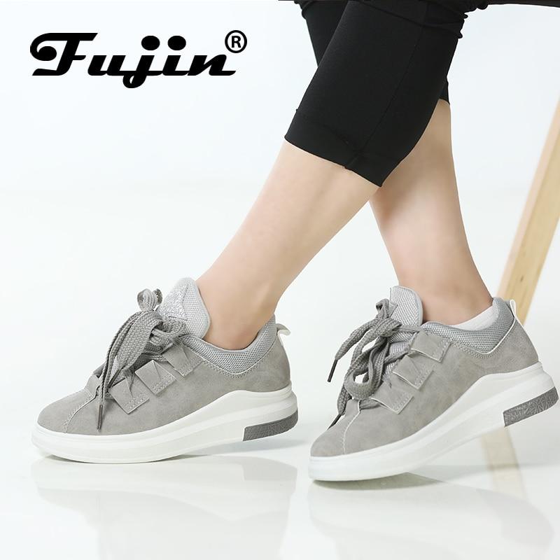 Fujin Brand 2019 Ladies Shoes Platform Shoes Sneakers Women Autumn Shoes  For Women Flats Lace Up Breathable Sport Casual #1