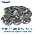 POWGE Inch T Type MXL XL L synchrone Pitch 0.08