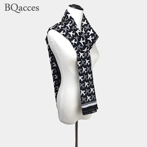 Image 2 - New arrived women black white aircraft plane cashmere pashmina scarves female winter warm wool scarf brand high quality shawl