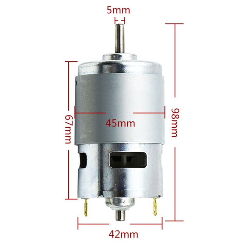775 DC Motor DC 12V-36V 12000 RPM Ball Bearing Large Torque High Power Low Noise Hot Sale Electronic Component Motor