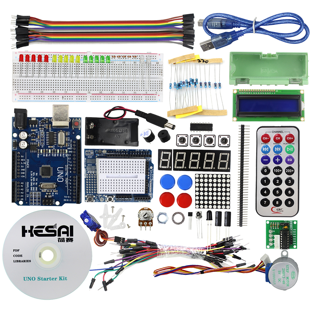 Smart Electronics Starter Kit UNO R3 / Step Motor /Servo/ 1602 LCD ...