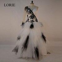 Gothic White And Black Wedding Dresses Ball Gowns 2018 Vestido De Noiva Vintage Bride Dress Lace