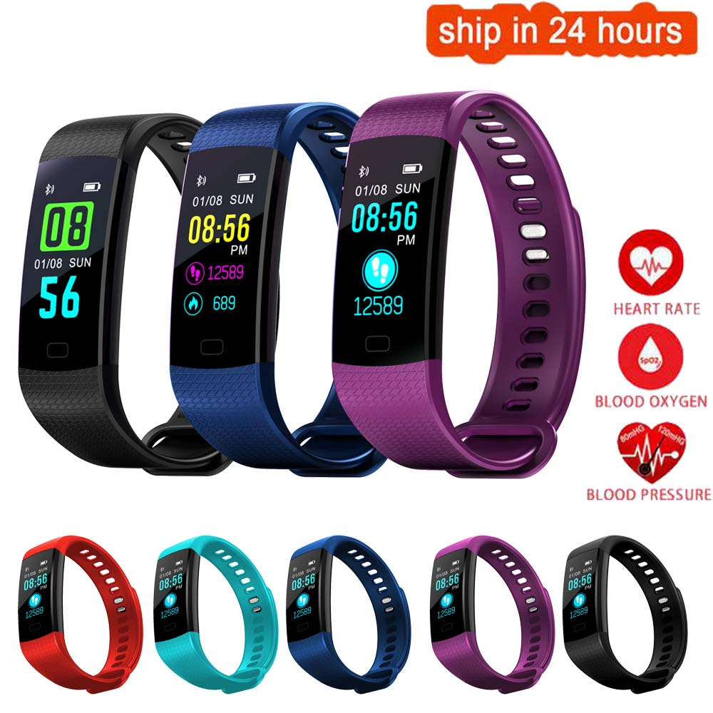 K27 Color Screen Smart Wristband Sports Bracelet Heart Rate Blood Pressure Oxygen Fitness Tracker for Huawei Ascend P8 Lite / P8 цена