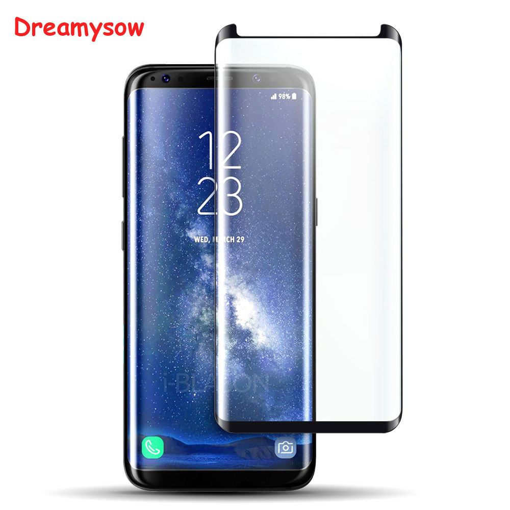 Dreamysow 6D 9 שעתי מזג זכוכית מסך 0.3 MM מגן מגן סרט לסמסונג גלקסי S8 S9 S8Plus S9PLUS הערה 8 מקרה