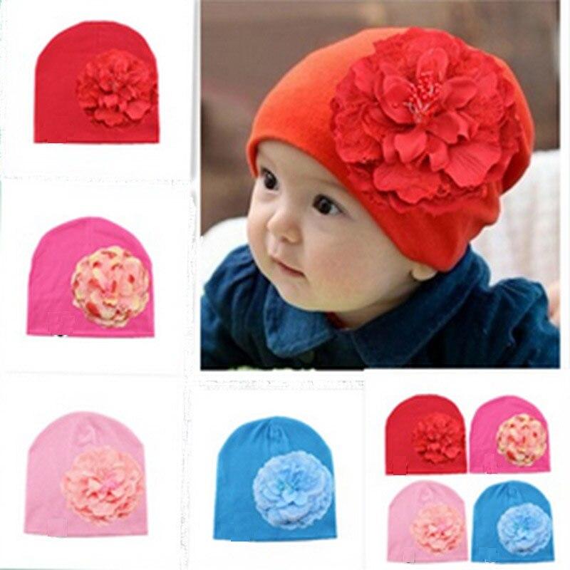 8a5b1daf90b DreamShining New Baby Hat Newborn Photography Cotton Hats Baby Girl Flower  Cap Toddler Beanie Hats Girls