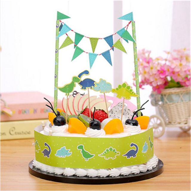 Cartoon Decoration Dinosaur World Birthday Cake Topper Birthday