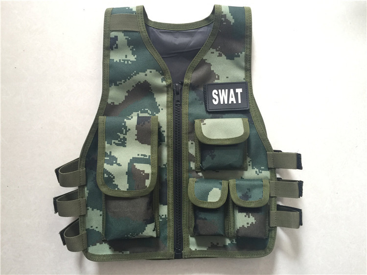 Black Ripstop Cosplay children Vest Kids Tactical Vest for games and trainning Scouting vest