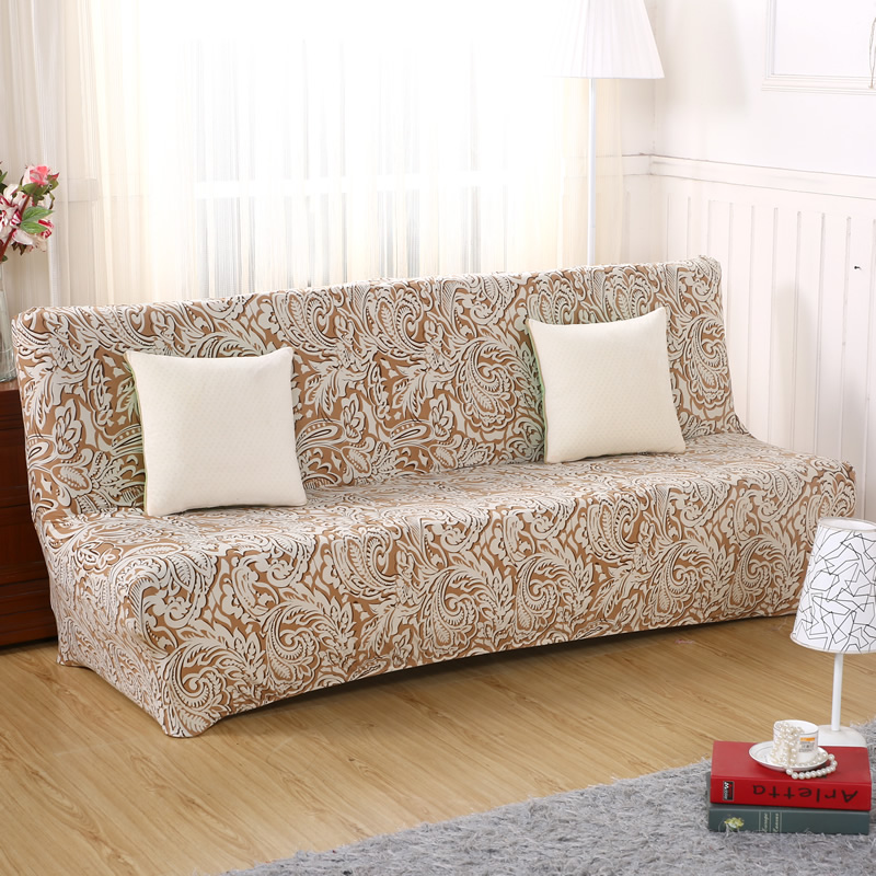 Hot Sale Sofa Bed Without Armrest Sofa Cover Couch Cover Printed