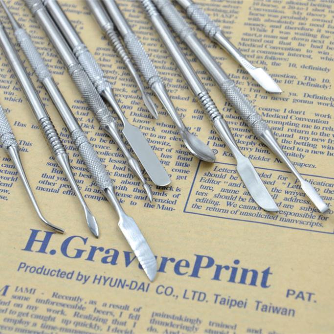 Haute qualité en acier inoxydable couteau argile art sculpté boue sol américain argile sculpture outils 00828