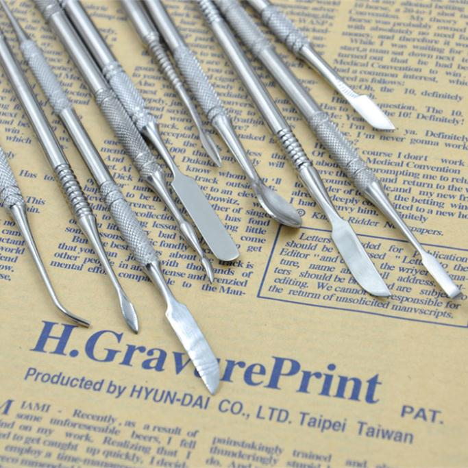 Haute qualité en acier inoxydable couteau d'argile art sculpté boues sol Américain sculpture en argile outils 00828