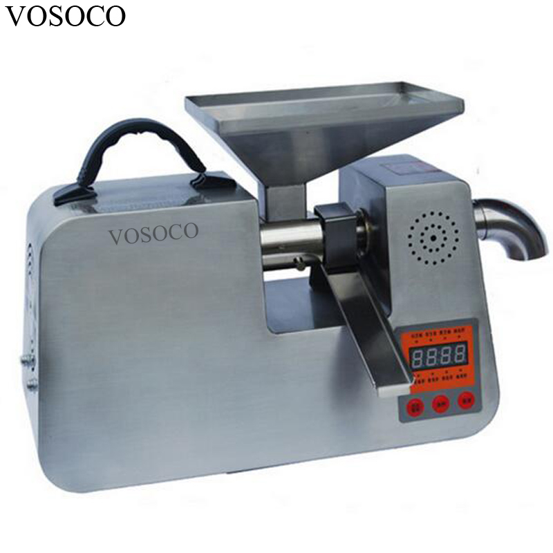 VOSOCO Oil press machine Stainless steel oil press hot cold automatic press Extract oil manufacture 7kg raw material / h 1502W стоимость