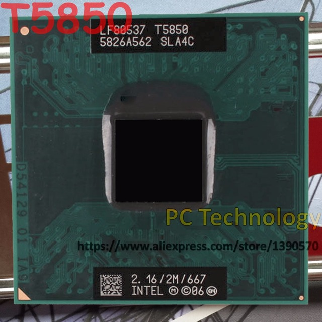 Original Intel Core2 Duo CPU T5850 (2M Cache, 2.16GHz, 677MHz FSB) laptop processor free shipping ship out within 1 day
