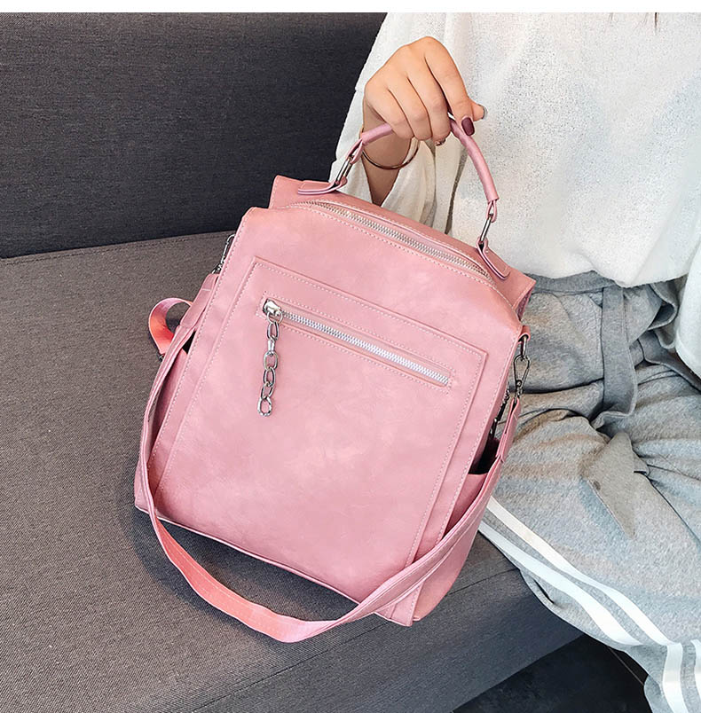 Women Backpack Leather School Bags For Teenage Girls Casual Large Capacity Multifunction Vintage Black Shoulder Bags 2019 XA158H