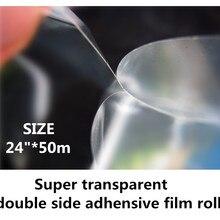 """2""""* 50 м прозрачный двусторонний боковой клейкой пленки для 3D изготовления"""