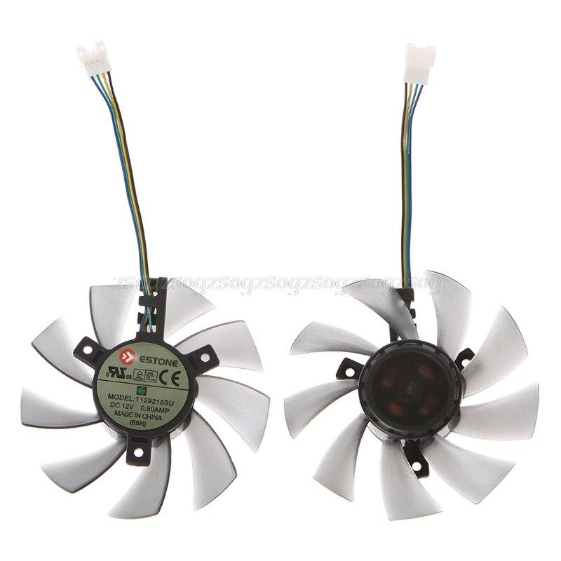DIY T129215SU Graphics Card 4Pin Cooling Fan For GTX 460 Gigabyte GTX 1060 Au07 Dropship free shipping 3pcs lot t128010sm 5pin for gigabyte gtx460 gtx470 gtx580 gtx 670 hd5870 graphics card fan
