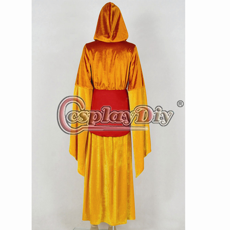 Star Wars Queen Padme Amidala Cosplay Costume Orange Robe Outfit Custom