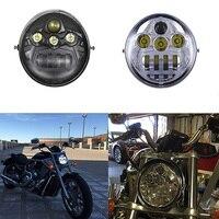 60W Motorcycle V Rod Led Lights For Harley VROD Motorcycle LED Headlight Moto for Harley V Rod VRSCF VRSC VRSCR 2002 2017