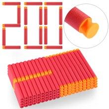 200 шт. для Nerf пули мягкая плоская голова 7,2 см Запасной комплект для Дартс игрушки пули для Nerf комплект бластеров детские рождественские подарки