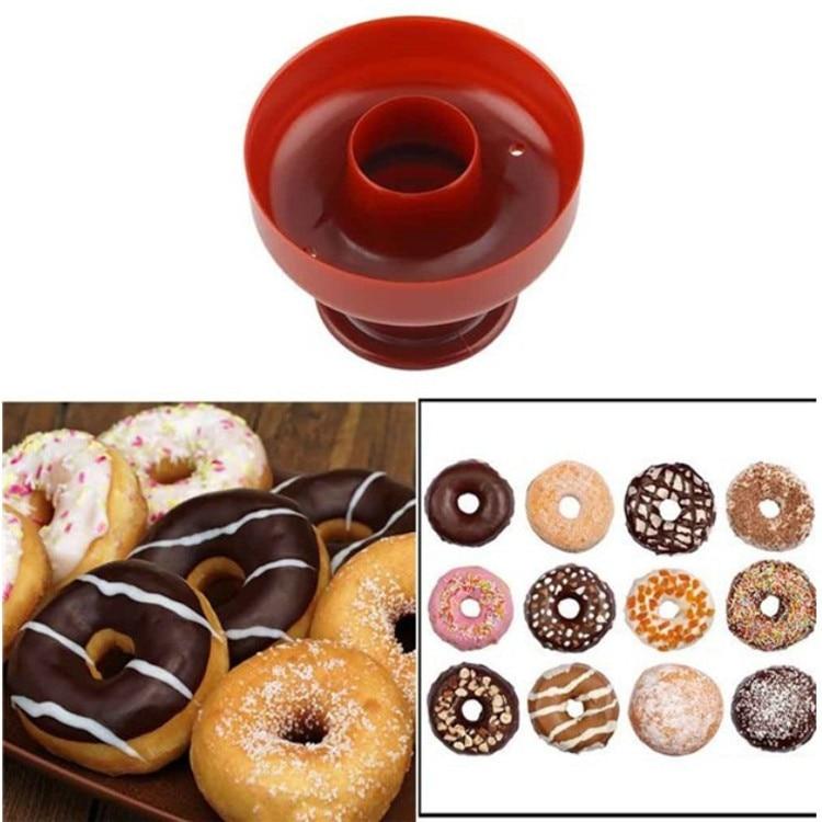 food -Grade Plastic DIY Donuts Maker Mold Doughnuts Maker Cutter Fondant Cake Bread Desserts Bakery Mould