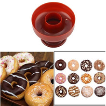 food -Grade Plastic DIY Donuts Maker Mold Doughnuts Maker Cutter Fondant Cake Bread Desserts Bakery Mould
