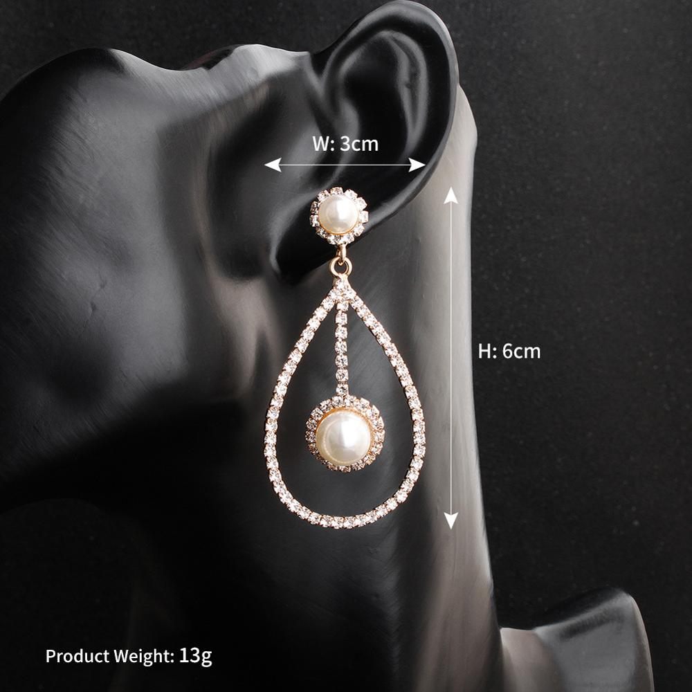 OLOEY Women Earrings Elegant Crystals Pendientes Mujer Femme Dangle Earring Jewelry Accesorios Bijoux Aretes Brincos Orecchini in Drop Earrings from Jewelry Accessories