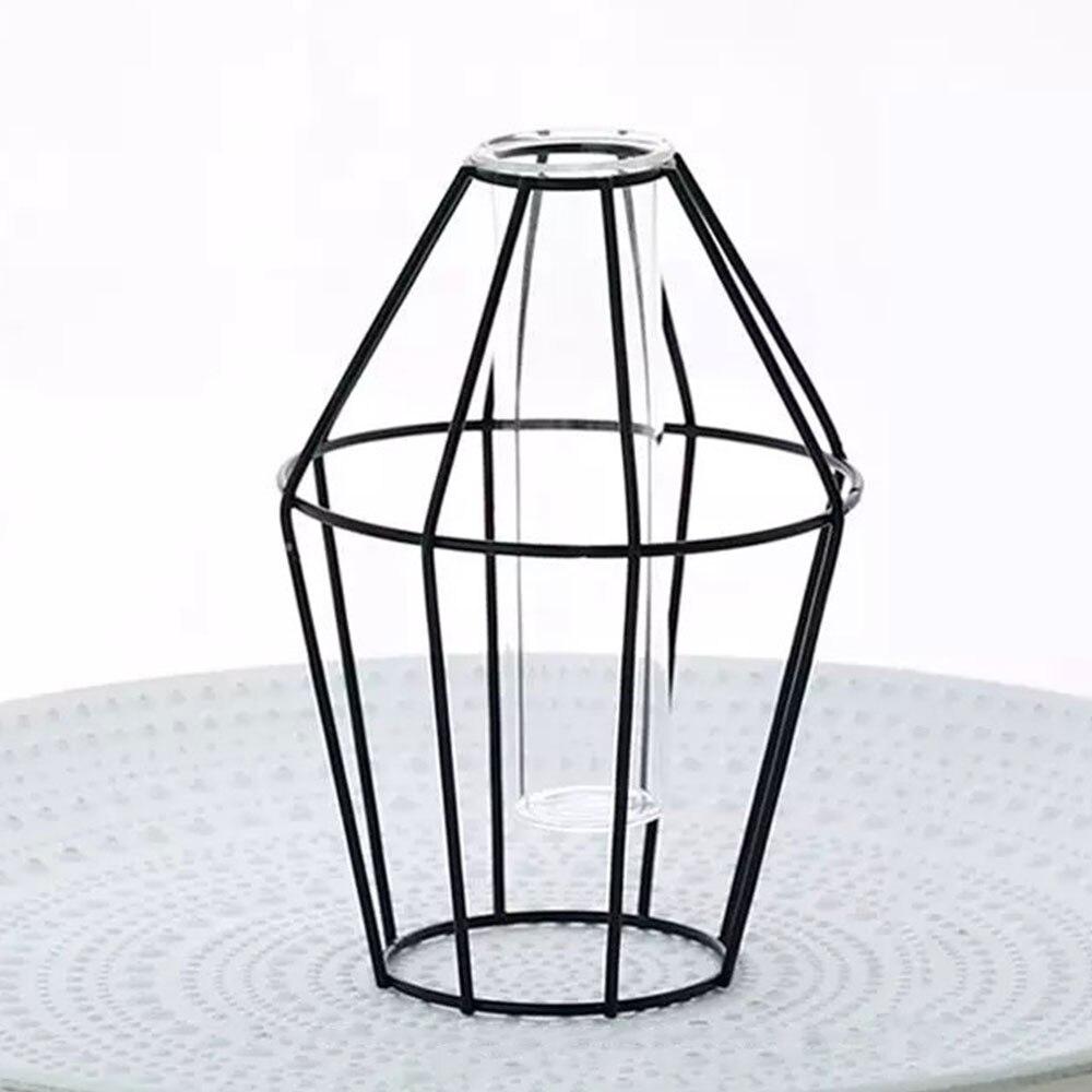 4 стиль кованая ваза Творческий горшок гидропоники цветок стенд вазы Desktop украшения дома Conainer Soliflore Verre - Цвет: Diamond