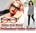 Retro Street Snap Cat's eye shape Optical Custom made optical lenses Reading glasses +1 +1.5 +2+2.5 +3 +3.5 +4 +4.5 +5 +5.5 +6