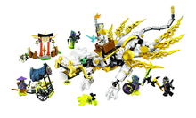 Бела 10397 Совместимость с Legoings Ninjagoingly мастер Ву Дракон 70734 Building Block Модель Рисунок обучающие игрушки для детей