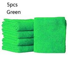 5 шт. зеленые полотенца из микрофибры Синий Абсорбент моющая Ткань Чистка автомобиля микрофибры Чистящие полотенца# MY
