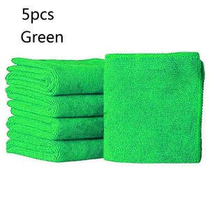 Microfiber-Towels Washing-Cloth Car Absorbent Cleaning Blue Green -My 5pcs