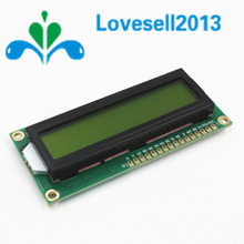 1Pcs/Lot LCD1602 1602 LCD HD44780 Screen Character LCD Display Yellow Blacklight TFT 16X2 LCD Module DC 5V