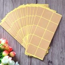 150pcs/Lot New Vintage Square Design Leather Color Blank Sticker Sealing Paste Baking Biscuit Bag Decorative Seal