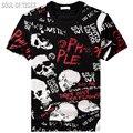 Topos de Hip Hop T Novo 2017 Verão Da Marca de Luxo Dos Homens Do Crânio camiseta homme homem engraçado camisetas de algodão 3d camisetas mma clothing XXXXL