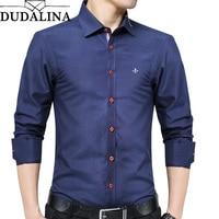 DUDALINA 2019 New Fashion Oxford Shirt Men Long Sleeve Shirt Men Clothes Slim Fit Casual Men Social Shirt Imported China