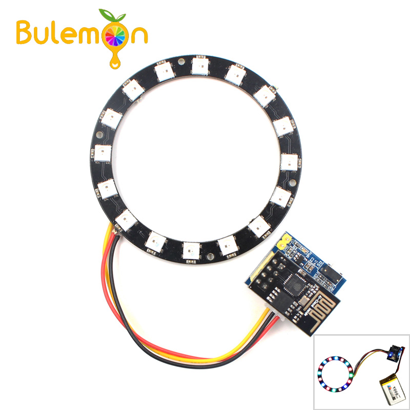 Esp8266 Esp01 Esp-01 Rgb Led Controller Adpater Wifi Module For Arduino Ide Ws2812 Ws2812b 5050 16 Bits Light Ring Christmas Diy Active Components