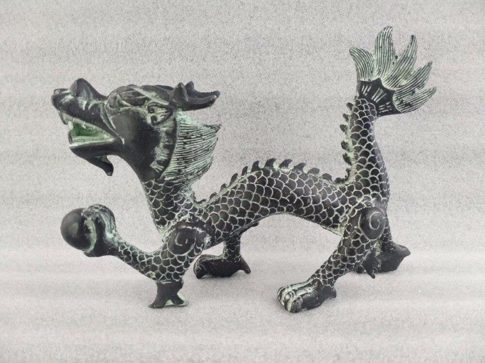 Statue de Dragon chinois en cuivre fait main
