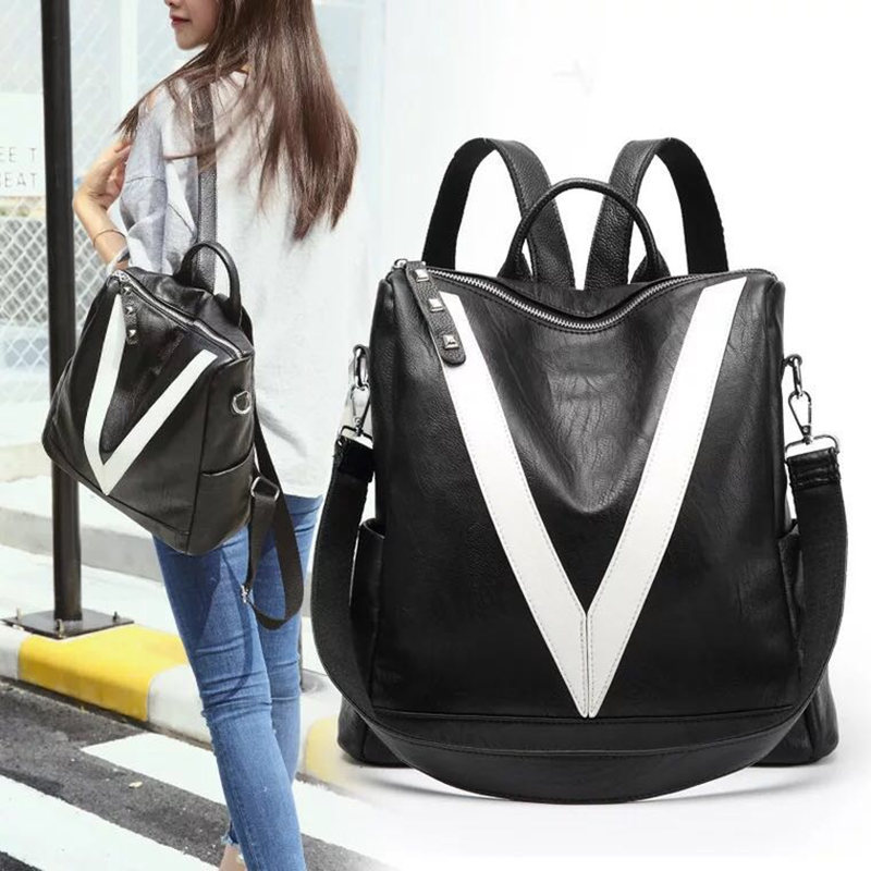 Hot Fashion Women Backpack High Quality Youth Leather Backpacks for Teenage Girls Female School Shoulder Bag Bagpack mochila dusun women high quality oxford backpack brand design mochila women school bag for teenage girls fashion women backpack hot sale